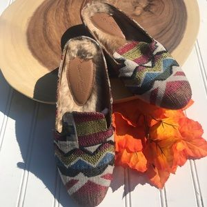 Universal Thread Tapestry Southwest Faux Fur Mules